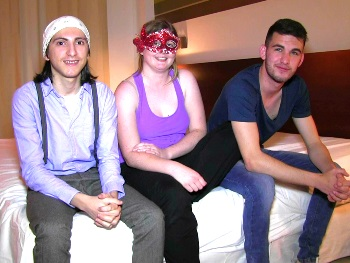 Filipe cons a 18yo friend into jher first threesome ever and filming porn. That's a crack!